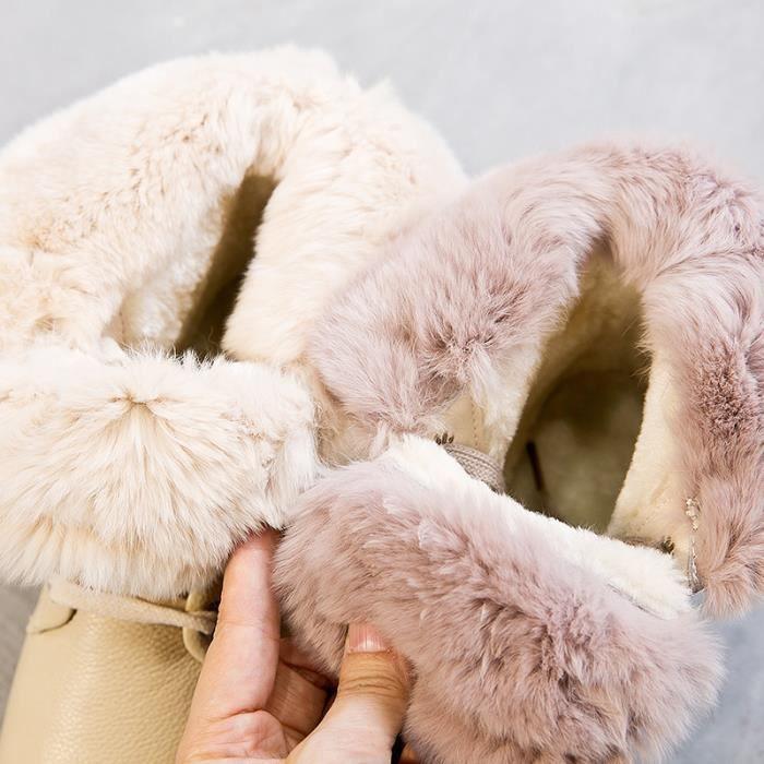 Ceyue Bottes femme Bottes de neige Bottes d'hiver chaude Bottes mode Bottine hiver chaude