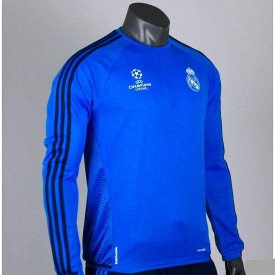 4cd60e630 Survêtement Real Madrid Training Ligue des Champions 2015 2016 Bleu bleu -  Achat   Vente ensemble de sport - Cdiscount