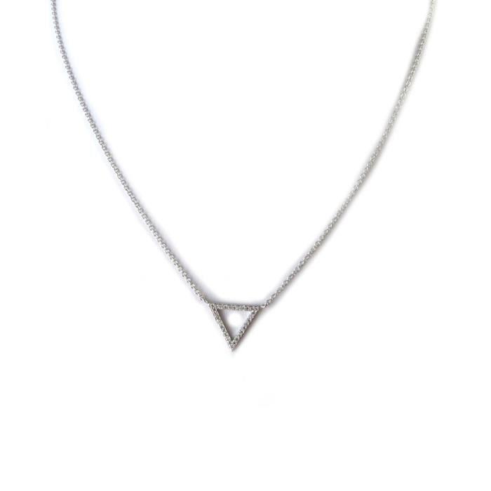 Collier Argent Triangles (rhodié)- Les Trésors De Lily [N6834]