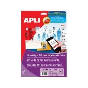Agipa Kit Code Qr Pour Cartes De Visite 85 X 4
