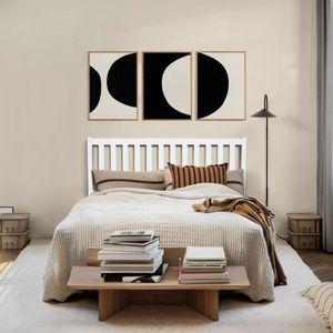 STRUCTURE DE LIT Aingoo Cadre de lit en pin Massif avec 9 Pieds en