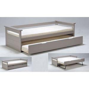 lit gigogne avec tiroir lit achat vente lit gigogne. Black Bedroom Furniture Sets. Home Design Ideas