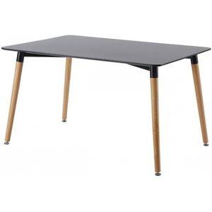 table manger rectangle achat vente table manger rectangle pas cher cdiscount. Black Bedroom Furniture Sets. Home Design Ideas