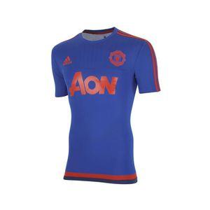 uk availability 7dc14 71a78 Maillot Entrainement Manchester United Bleu Rouge
