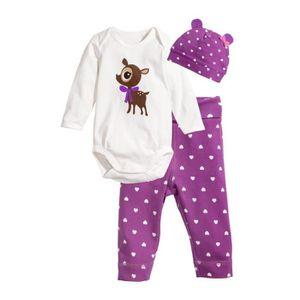 Ensemble de vêtements 3 PCS Pyjamas Ensemble Vêtements pour Mixte Bébé - 936edbe793e
