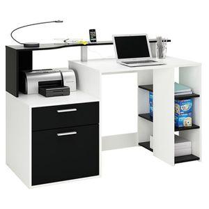 BUREAU  Bureau informatique 1 tiroir, 1 porte et 1 étagère