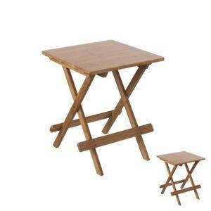 BANC D'EXTÉRIEUR Duo de tables pliantes en Bambou - JASMINE - L 40
