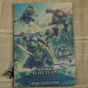 AFFICHE - POSTER Affiche en Papier Kraft - Film Ninja Turtles - Col