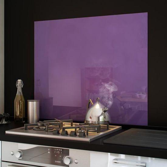 Crédence fond de hotte verre brillant Violet 90... - Achat / Vente ...