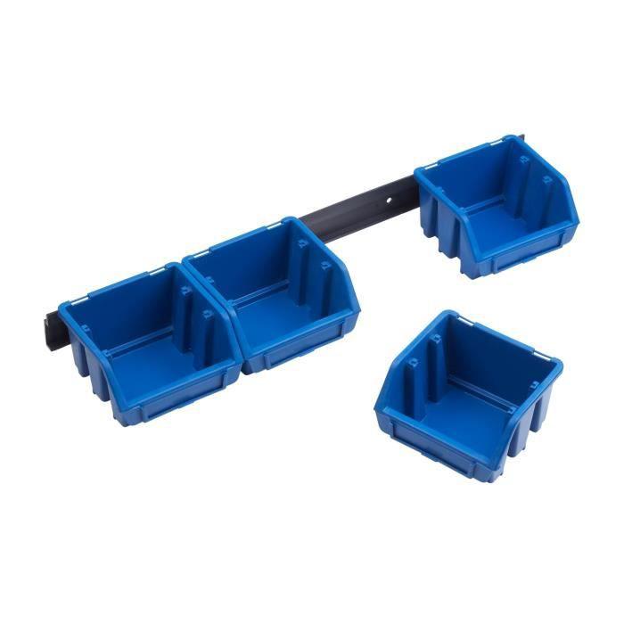 MEISTER 4 Bacs à bec 0,5 L sur rail - Bleu