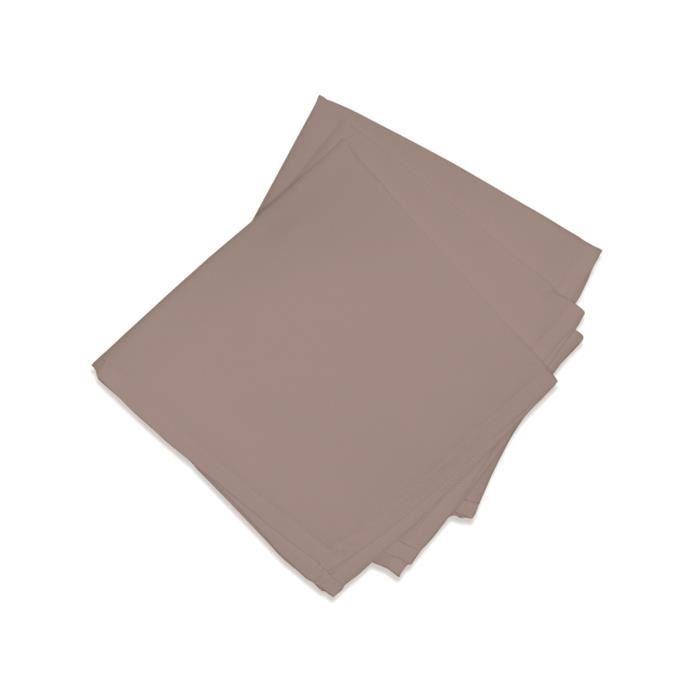 SOLEIL D'OCRE Lot de 3 serviettes de table ALIX - Marron Moka