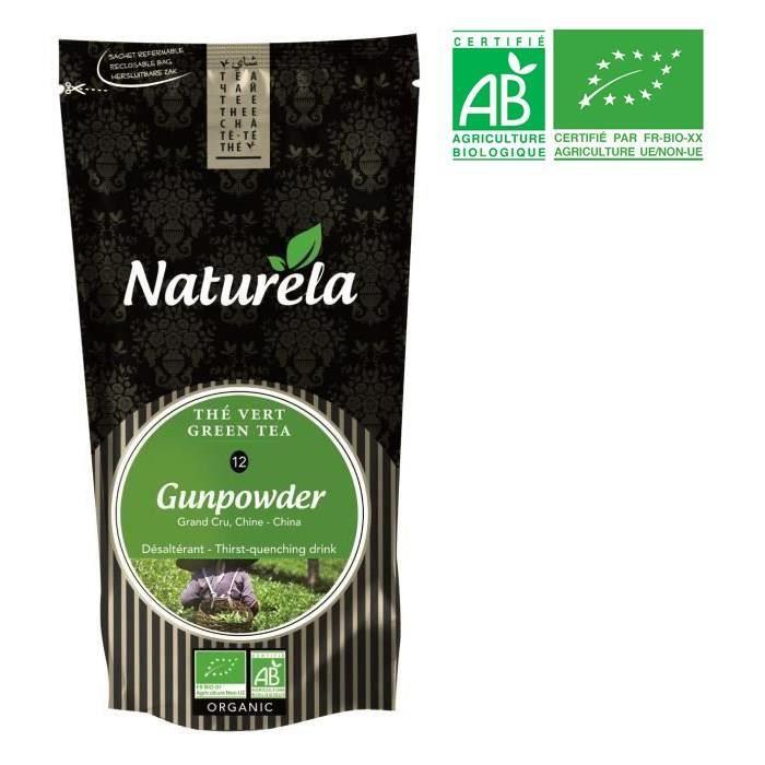 NATURELA Thé vert nature Gunpowder - BIO - 100 g