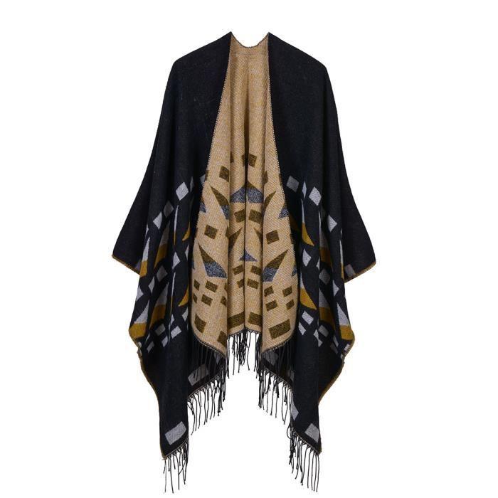 1PCS Poncho Châle Vintage Femme - Foulard Écharpe Chaud manteau pour  automne - 7b8fcb94c6a
