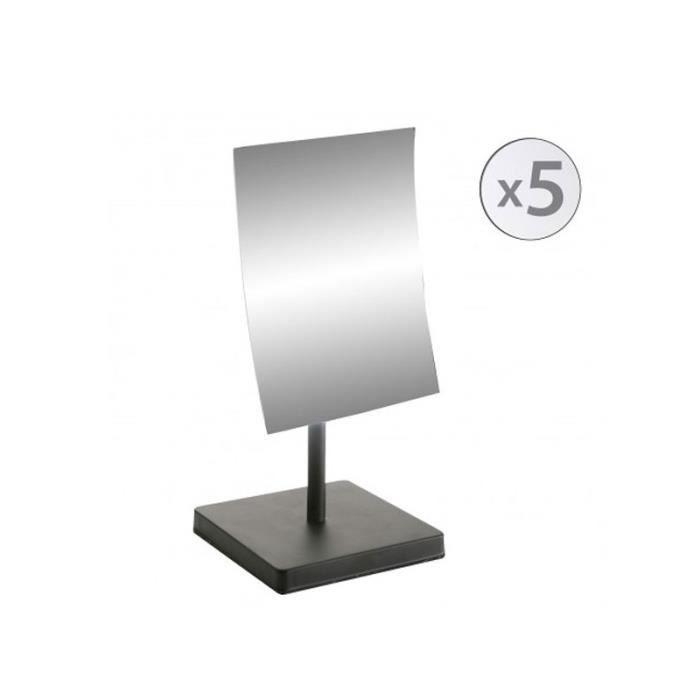 Miroir Grossissant X5 Orientable sur Pied en Métal Noir 0,000000