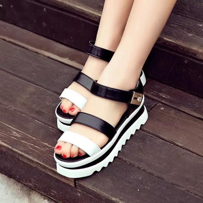des sandales femmes solide Roman style pxmd69Y7Dx