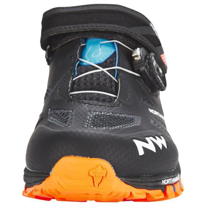 0a547723886 Northwave Chaussures Spider Plus 2 Homme black green orange - Prix ...