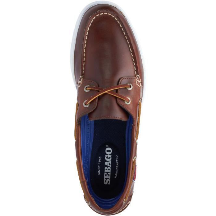 CHAUSSURES BATEAU LITESIDES TWO EYE cuir gras marron - Chaussures ba