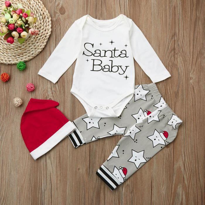 baa8d6933fe42 Vêtements de filles+Nouveau-né Bébé Fille Fille Lettre De Noël ...