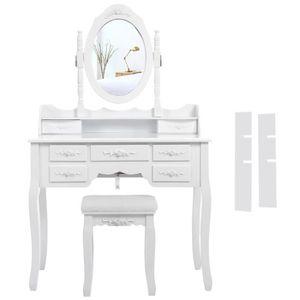 meuble coiffeuse avec miroir achat vente meuble coiffeuse avec miroir pas cher soldes d s. Black Bedroom Furniture Sets. Home Design Ideas