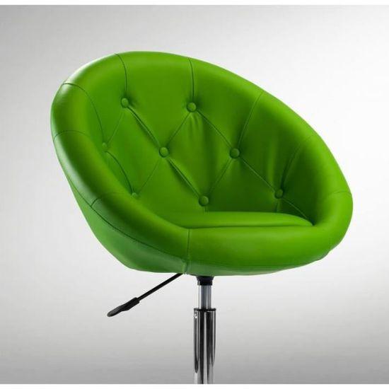 Fauteuil à roulette cuir PU tabouret chaise de bureau vert BUR09033 - Achat    Vente chaise de bureau - Soldes  dès le 9 janvier ! Cdiscount f0972e87f597