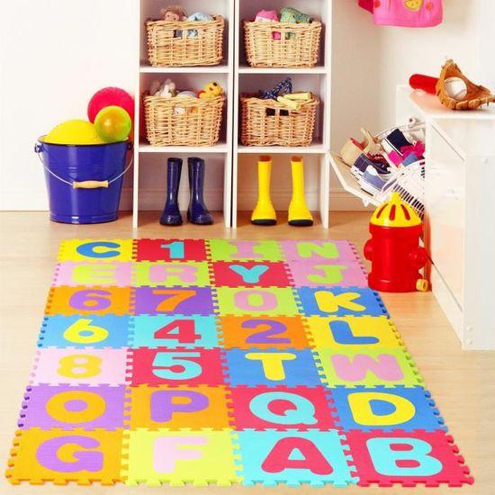 HOMFA Puzzle Tapis De Jeu Enfant En Mousse EVA Dalle Mousse Bébé - Faience cuisine et tapis route mousse