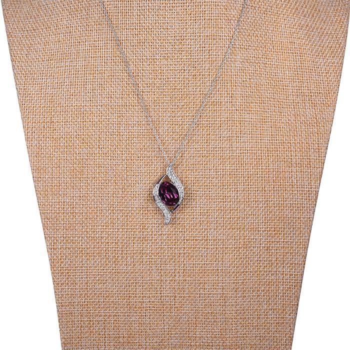 Étincelle des femmes pour toujours Collection » Elets Swarovski Collier royal Swirl Deep Purple Pendentif Pour &A1ML9