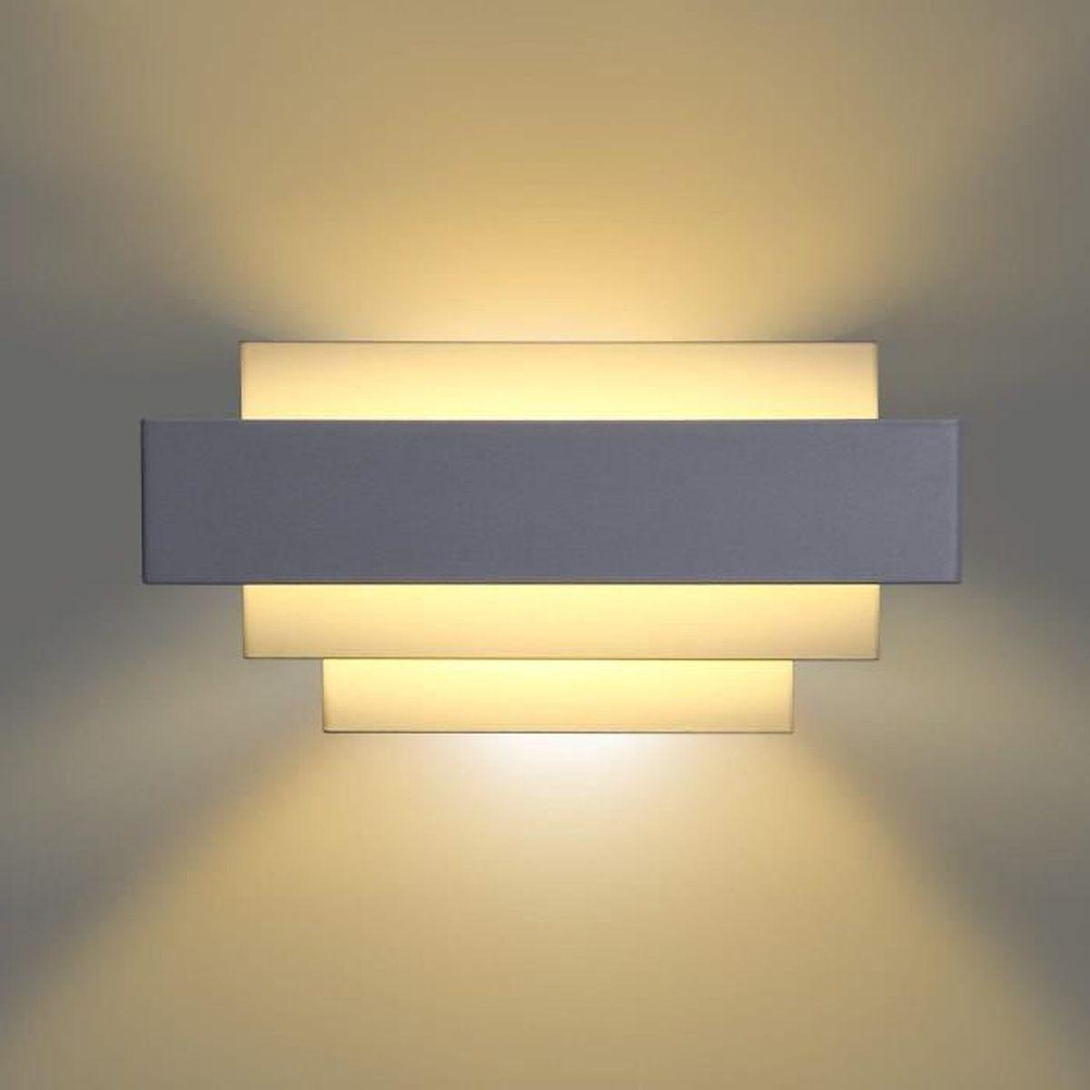 appliques murales moderne métal ombre lumière décoration lampe pour