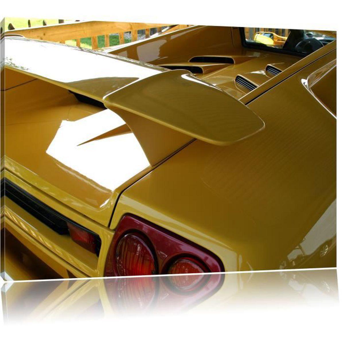 Toile imprimé jaune Lamborghini Gallardo , complètement encadrées ...