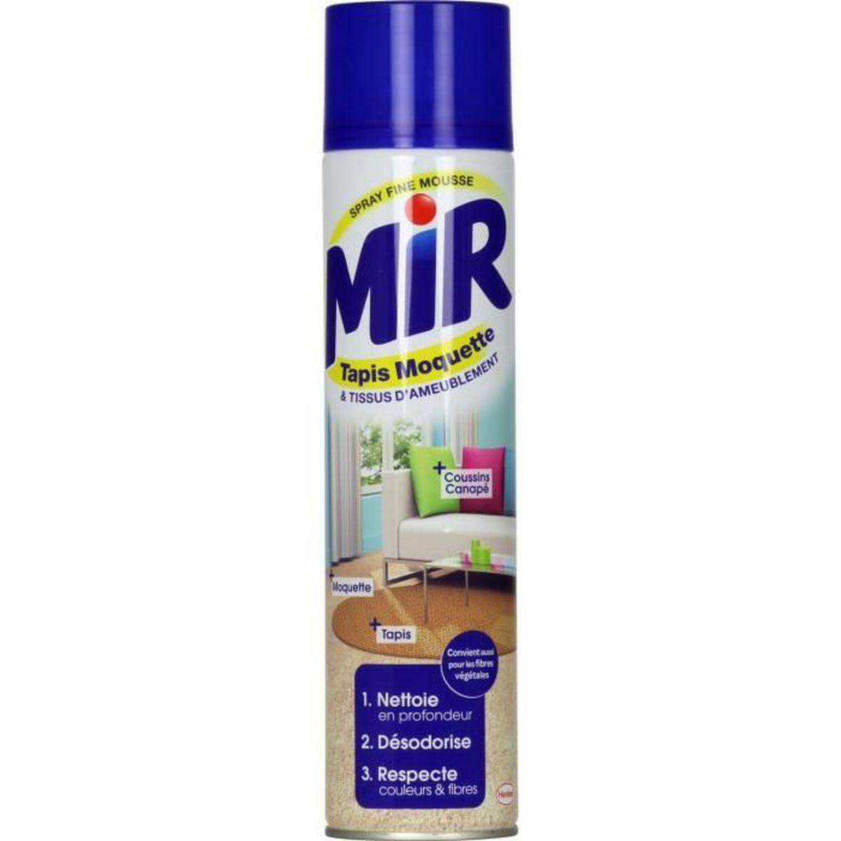 mir tapis moquette nettoyant tapis et moquettes spray mousse 600 ml lot de 3 achat ForMir Tapis Moquette