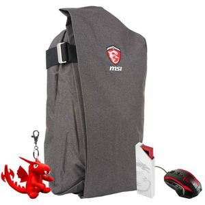 MSI Pack Gaming - Sac ? dos + Souris gaming + Cl? USB + Porte cl?s Dragon