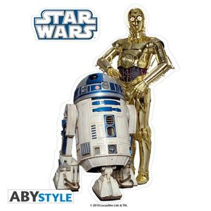 AFFICHE - POSTER STAR WARS Stickers - 16x11cm/ 2 planches - R2-D2