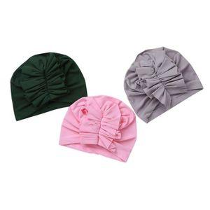 6082f787a4f3 BANDEAU - SERRE-TÊTE 3Pcs Bonnet Bébé Naissance Coton Nouveau-Né Indien