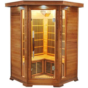 KIT SAUNA  Sauna d'angle infrarouge Luxe 2 à 3 places