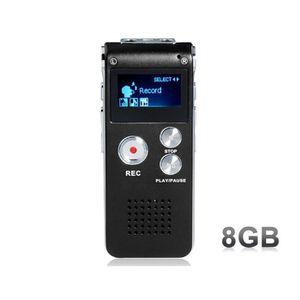 DICTAPHONE - MAGNETO. SK-012 8GB MP3 Enregistreur vocal numérique (Noir)