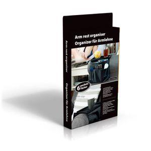 BOITE DE RANGEMENT Organiseur muli poches pour accoudoir - Noir