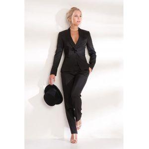 Ensemble veste pantalon noir sat... Noir - Achat   Vente ensemble de ... 79cf4da34370