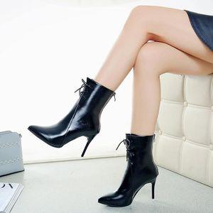 Napoulen®Mode Dames femmes Carré talons hauts sandales flip flop de poisson bouche Noir-XPP80102551BK Po3Ps