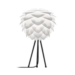 LAMPE A POSER SILVIA-Lampe à poser Trépied Noir Ø34cm Blanc Vita