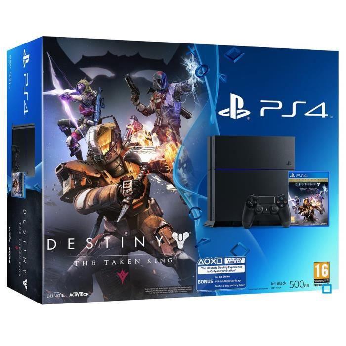 CONSOLE PS4 PS4 500 Go Noire + Destiny : Le Roi Des Corrompus