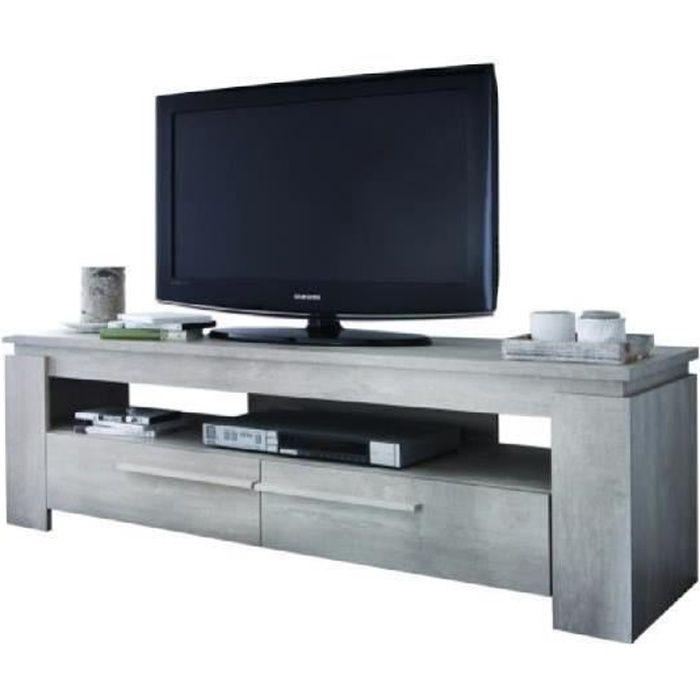 Segur Banc Tv 140cm 2 Tiroirs Coloris Chene Achat Vente Meuble