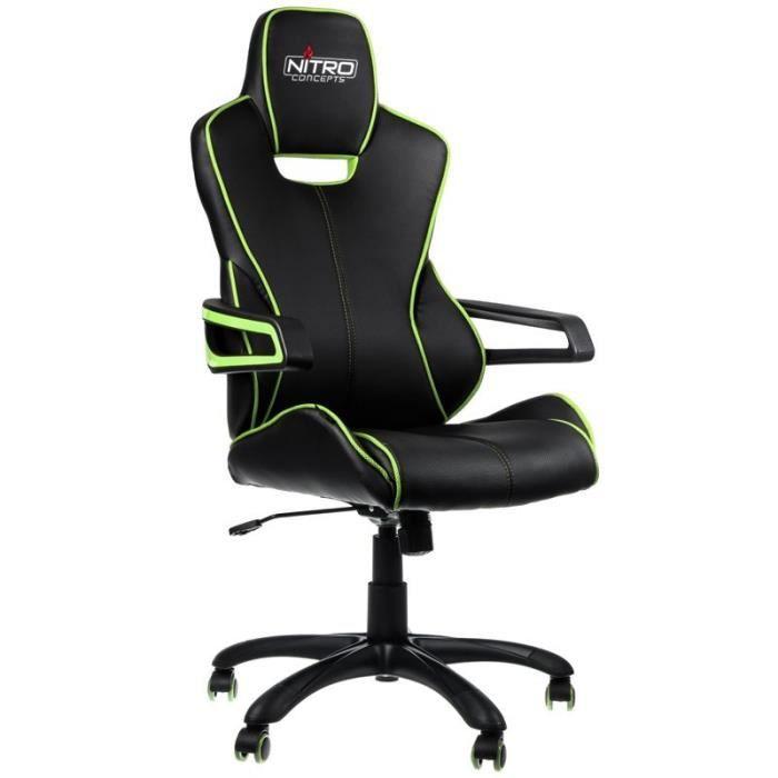 NITRO CONCEPTS Fauteuil Gaming Nitro Concepts E200 Race - Noir/Vert