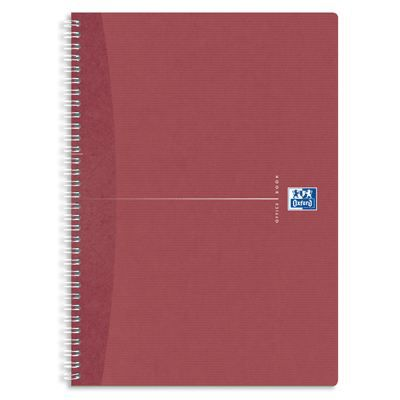 OXFORD Cahier reliure intégrale A4 - 180 pages - Petits carreaux - Office Recycle