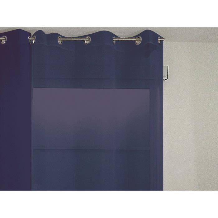 SOLEIL D'OCRE Voilage à Œillets Alix - 135x250 cm - Bleu marine