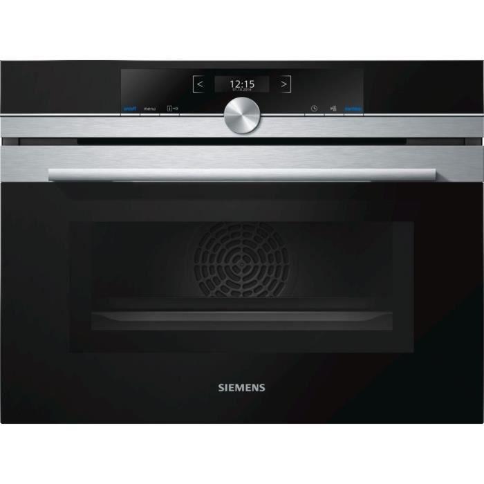 SIEMENS CM633GBS1 - Four encastrable fonction micro ondes - 45 L - 6 modes de cuisson - Inox