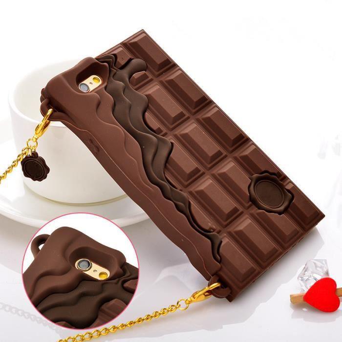 coque iphone 5 silicone 3d chocolat