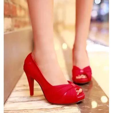 Chaussures dentelle, les chaussures tête de poisson à l'arc dames sexy hauts talons, vert 37