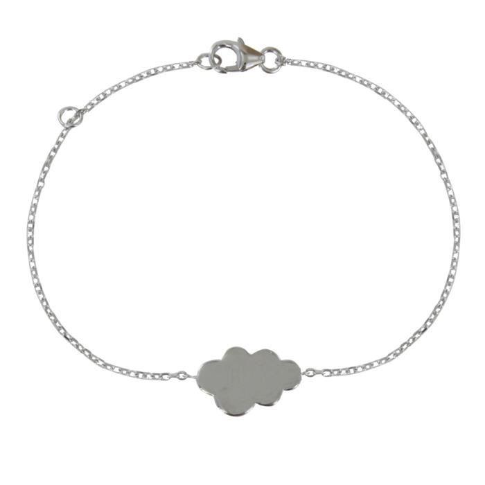 Bijoux Les Poulettes - Bracelet Nuage de Printemps Argent Rhodié