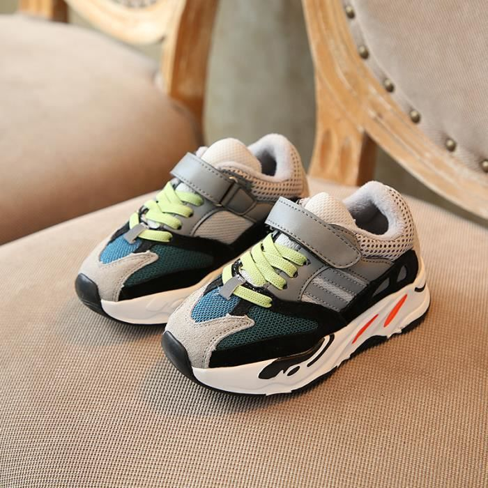 chaussures de Garçon course de baskets à treillis antidérapant chaussures pour enfants, chaussures de loisirs chaussures cool
