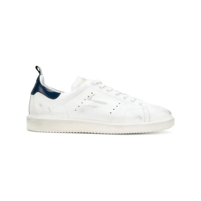 GOLDEN GOOSE HOMME G32MS631L8 BLANC CUIR BASKETS