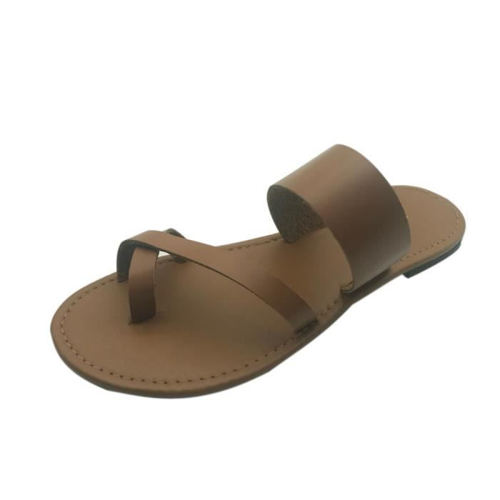 Flops Strappy Jaune Flip Low xie Gladiator Femmes Ankle Flat Summer 6720 Shoes Sandals Casual qwApxX6z